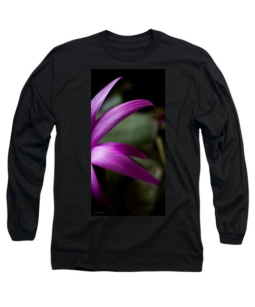 Purple Flower Long Sleeve T-Shirt by Steven Milner