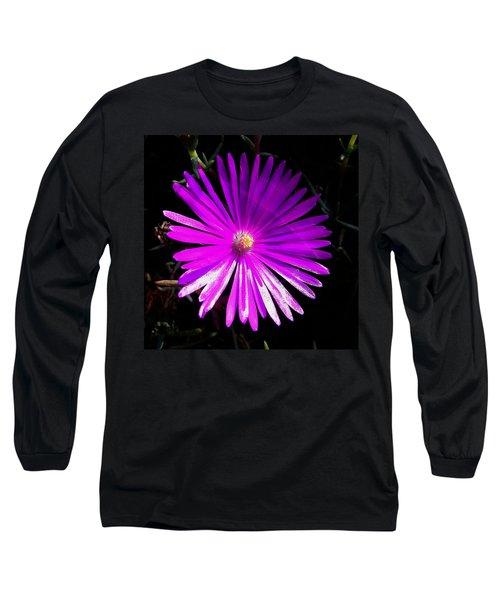 Purple Glow Long Sleeve T-Shirt by Pamela Walton