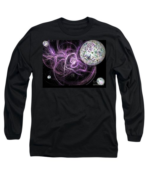 Long Sleeve T-Shirt featuring the digital art Purple Haze by Jacqueline Lloyd