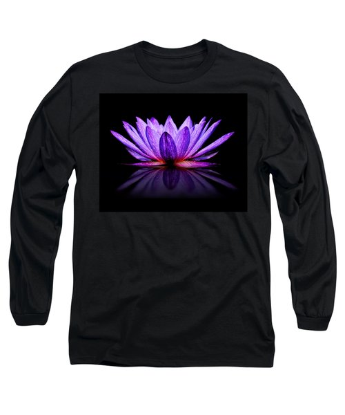Purple Lily Long Sleeve T-Shirt