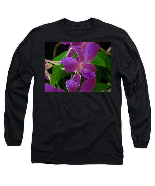 Purple Over Green Long Sleeve T-Shirt