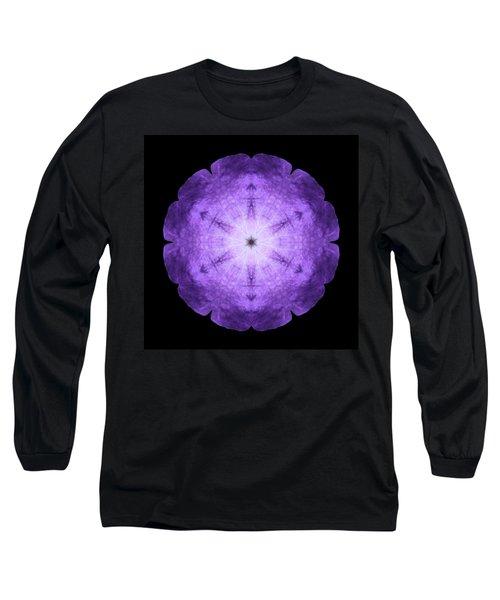 Purple Petunia I Flower Mandala Long Sleeve T-Shirt