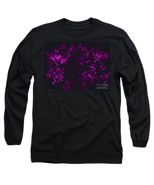 Long Sleeve T-Shirt featuring the painting Purple Ripples by Anita Lewis