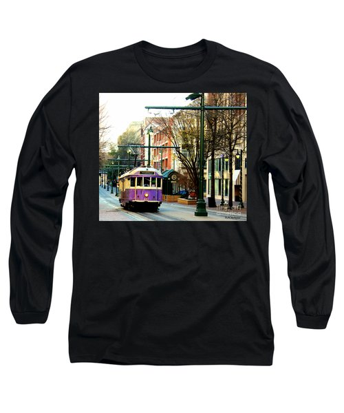 Long Sleeve T-Shirt featuring the photograph Purple Trolley by Barbara Chichester