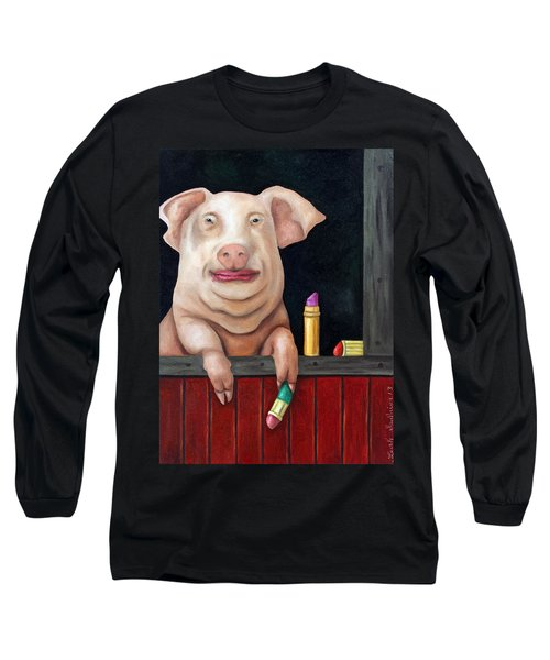 Putting Lipstick On A Pig Long Sleeve T-Shirt