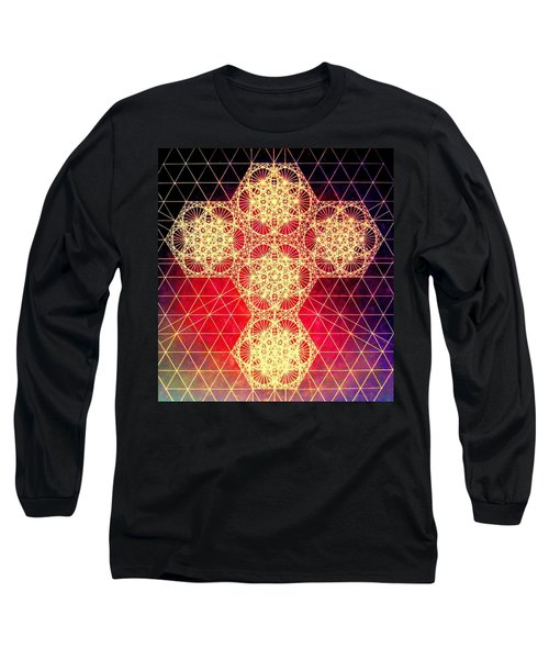 Quantum Cross Hand Drawn Long Sleeve T-Shirt
