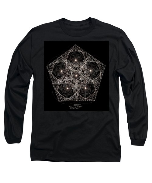 Long Sleeve T-Shirt featuring the drawing Quantum Star II by Jason Padgett