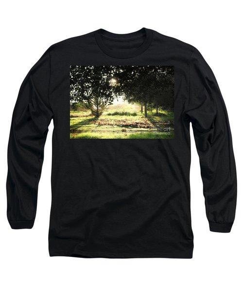 Long Sleeve T-Shirt featuring the photograph Quarry Lakes Sunrise by Ellen Cotton