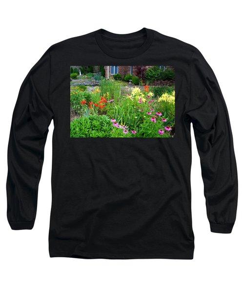 Long Sleeve T-Shirt featuring the photograph Quarter Circle Garden by Kathryn Meyer