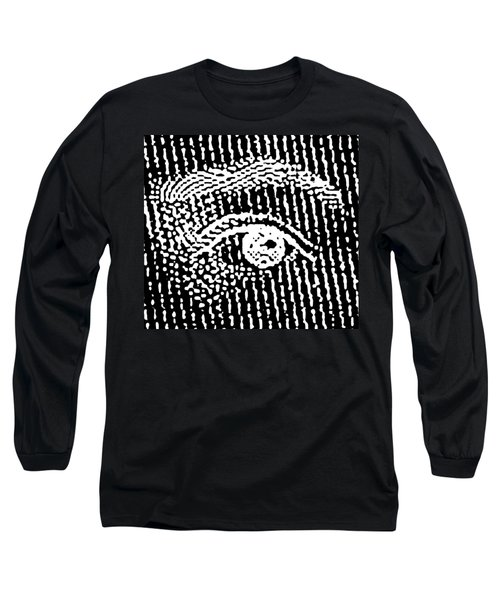 Long Sleeve T-Shirt featuring the digital art Queen Elizabeth's Eyes by Vagabond Folk Art - Virginia Vivier