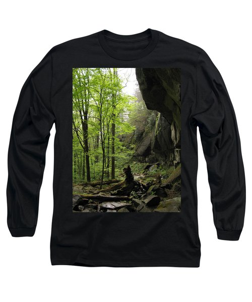 Quilliams Cave Long Sleeve T-Shirt by Melinda Fawver