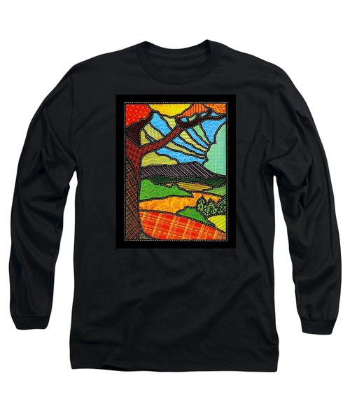 Quilted Bright Harvest Long Sleeve T-Shirt