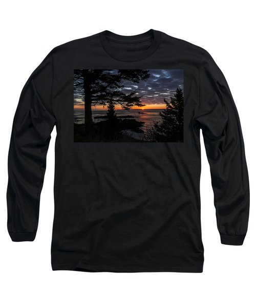 Quoddy Sunrise Long Sleeve T-Shirt by Marty Saccone