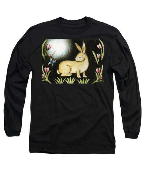 Rabbit And The Butterfly . . . From The Tapestry Series Long Sleeve T-Shirt