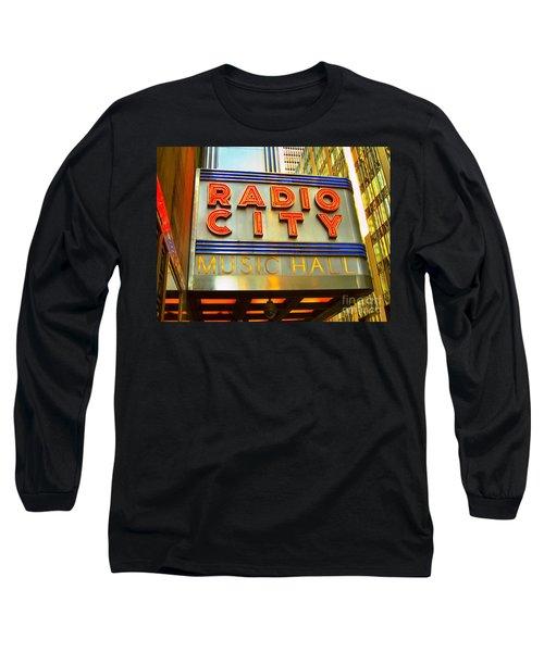 Long Sleeve T-Shirt featuring the photograph Radio City Music Hall by Judy Palkimas