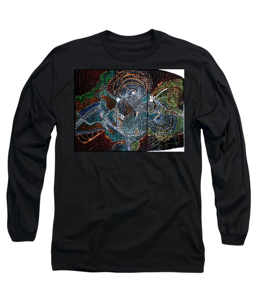 Long Sleeve T-Shirt featuring the painting Radiohead by Gloria Ssali