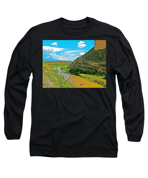 Rafting In Santa Elena Canyon In Big Bend National Park-texas Long Sleeve T-Shirt by Ruth Hager