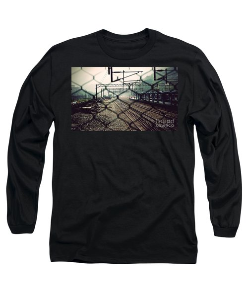 Long Sleeve T-Shirt featuring the photograph Railway Station by Yew Kwang