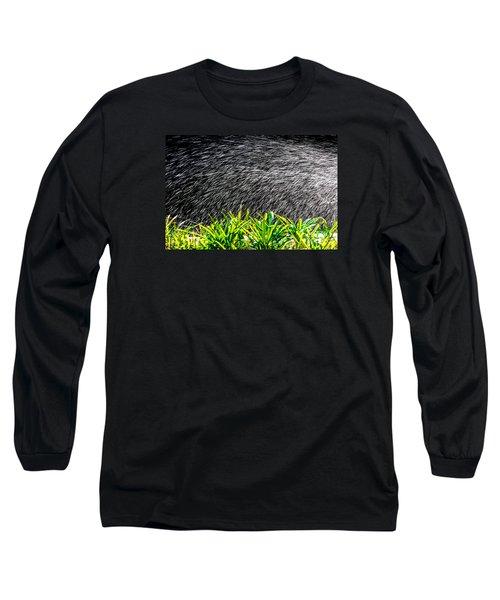 Long Sleeve T-Shirt featuring the photograph Rain In The Garden by Edgar Laureano