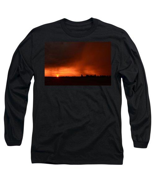 Rain Squall Sunrise Long Sleeve T-Shirt