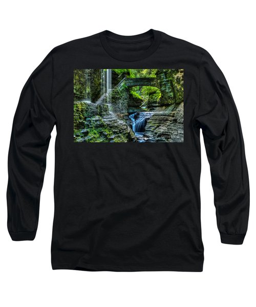 Rainbow Falls Watkins Glen Long Sleeve T-Shirt