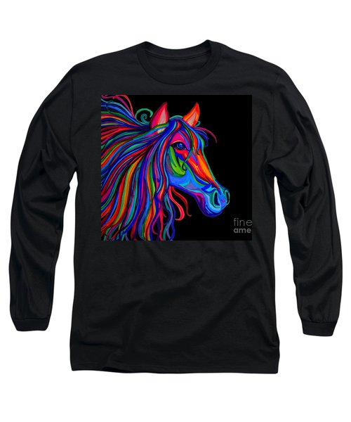 Rainbow Horse Head Long Sleeve T-Shirt