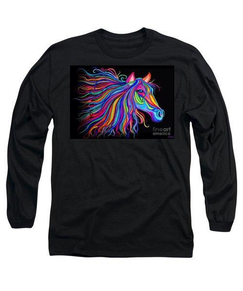 Rainbow Horse Too Long Sleeve T-Shirt