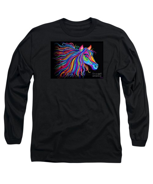 Rainbow Horse Too Long Sleeve T-Shirt