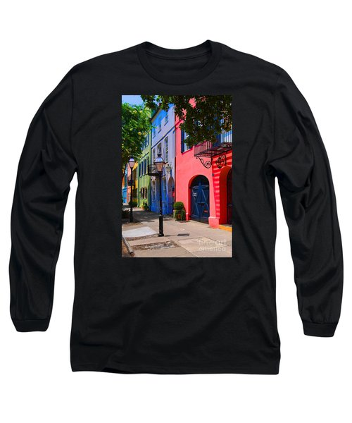 Rainbow Row Charleston Long Sleeve T-Shirt by Skip Willits