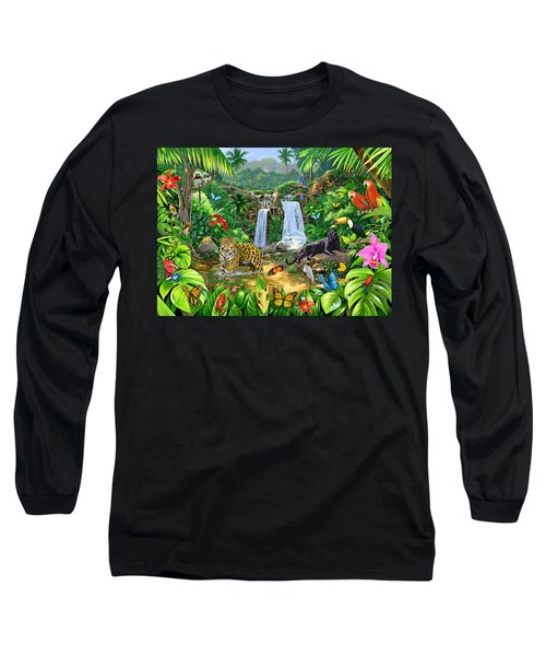 Rainforest Harmony Variant 1 Long Sleeve T-Shirt by Chris Heitt