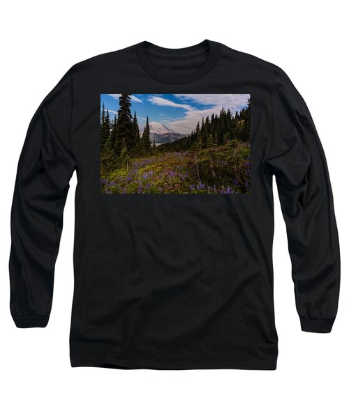 Rainier Tipsoo Wildflowers Long Sleeve T-Shirt