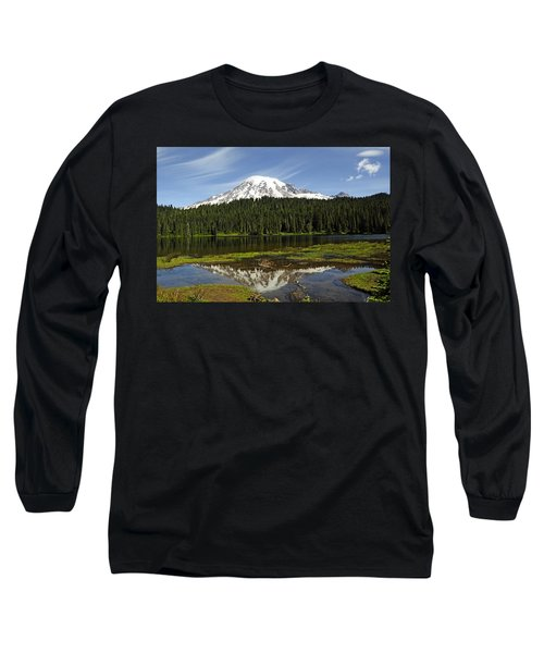 Long Sleeve T-Shirt featuring the photograph Rainier's Reflection by Tikvah's Hope