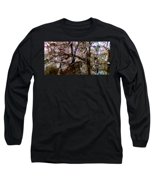 Long Sleeve T-Shirt featuring the photograph Rainscape - Rain On The Window Series 3 Abstract Photo by Marianne Dow