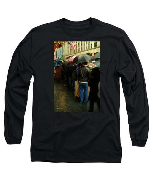 Rainy Afternoon On Broadway Long Sleeve T-Shirt