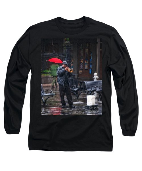 Rainy Day Blues New Orleans Long Sleeve T-Shirt