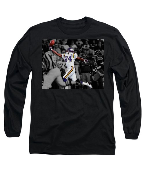 Randy Moss Long Sleeve T-Shirt by Brian Reaves