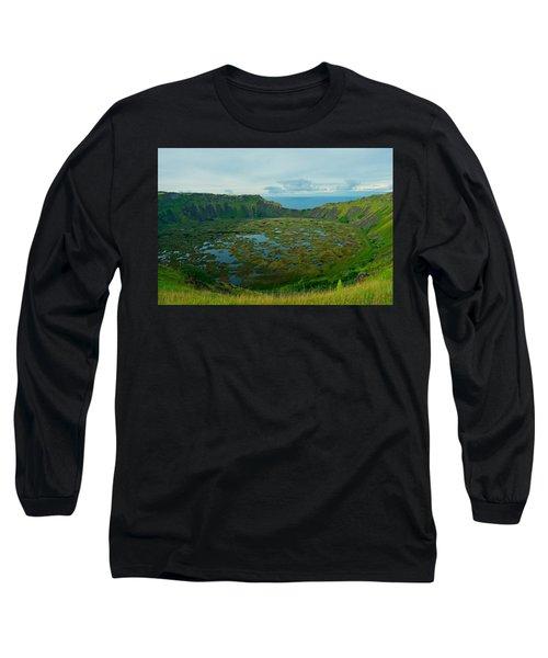 Rano Kau Kau Crater Long Sleeve T-Shirt
