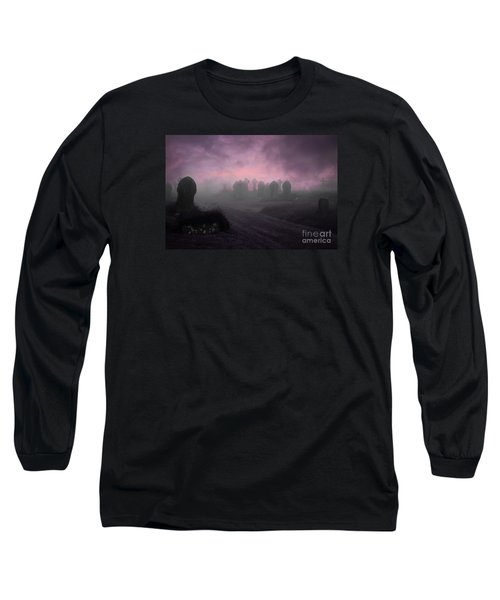 Long Sleeve T-Shirt featuring the photograph Rave In The Grave by Terri Waters
