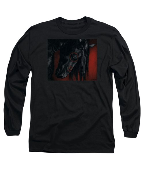 Long Sleeve T-Shirt featuring the painting Raven Wing by Pat Erickson