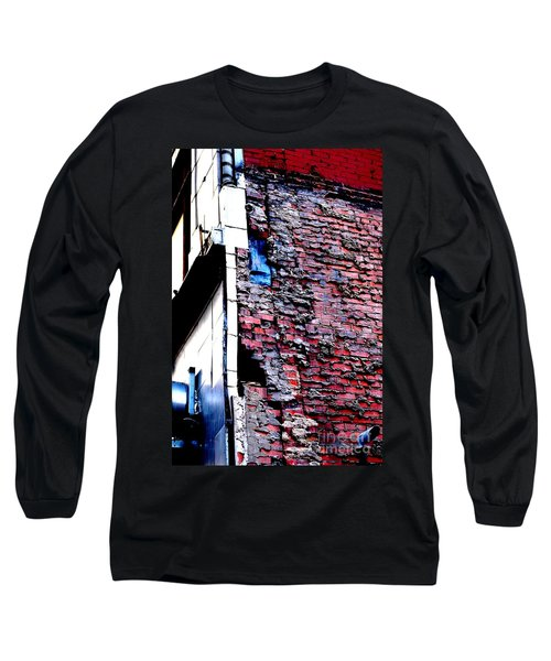 Long Sleeve T-Shirt featuring the photograph Raw Brick Bones by Christiane Hellner-OBrien