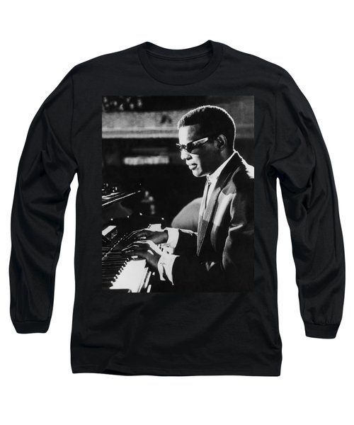 Ray Charles At The Piano Long Sleeve T-Shirt