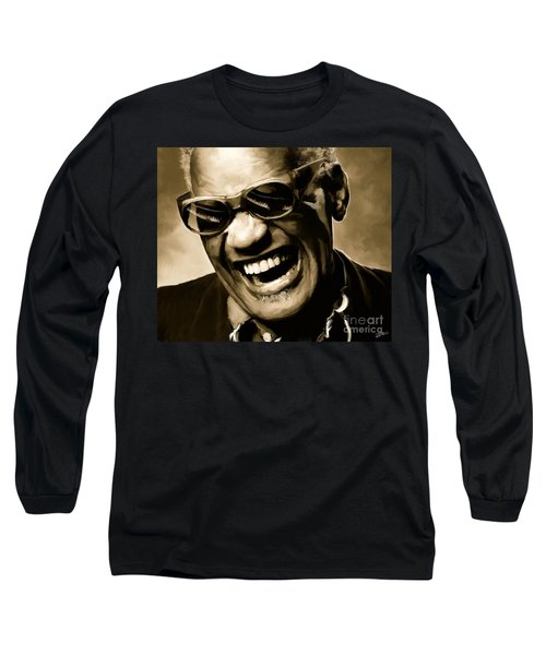 Ray Charles - Portrait Long Sleeve T-Shirt