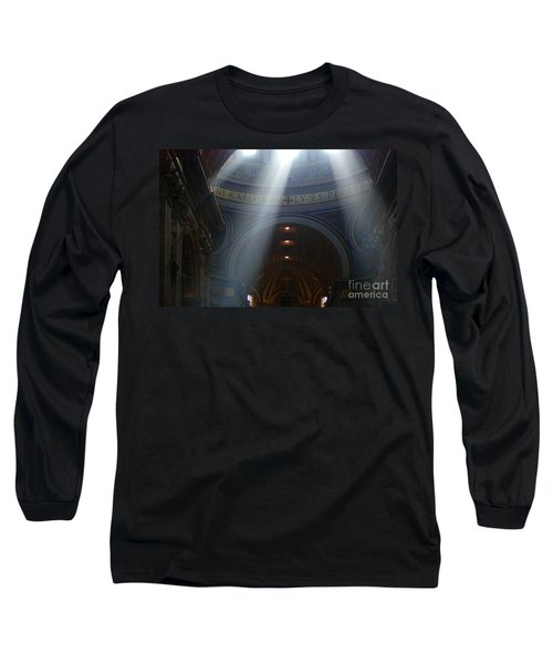 Rays Of Hope St. Peter's Basillica Italy  Long Sleeve T-Shirt by Bob Christopher