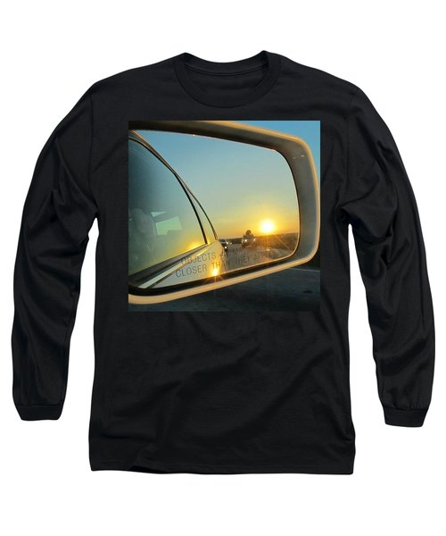 Rear View Sunset Long Sleeve T-Shirt by Deborah Lacoste