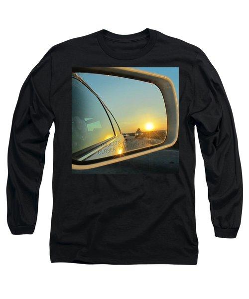Rear View Sunset Long Sleeve T-Shirt