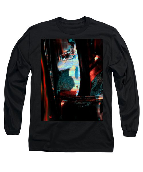 Long Sleeve T-Shirt featuring the painting Reasons- Ewf Series 5 by Yul Olaivar