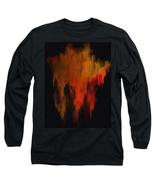 Red And Gold 1 Long Sleeve T-Shirt