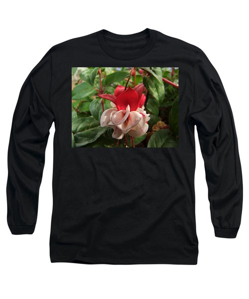 Red And White Fuschia Long Sleeve T-Shirt