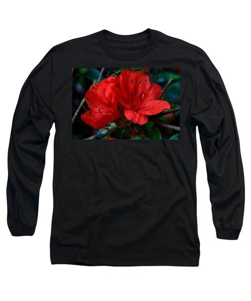 Red Azalea Flower Long Sleeve T-Shirt