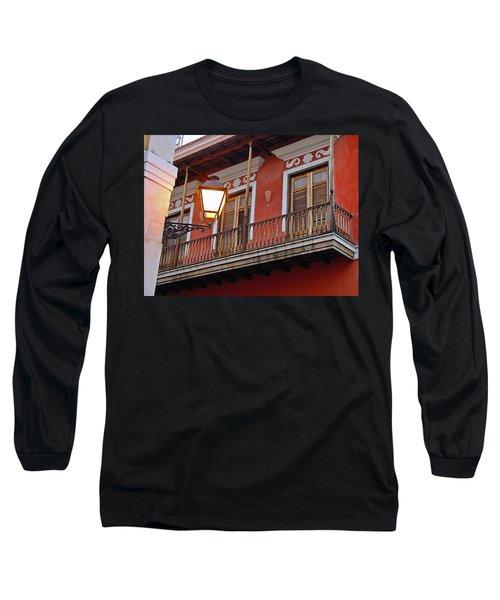 Red Balcony Long Sleeve T-Shirt